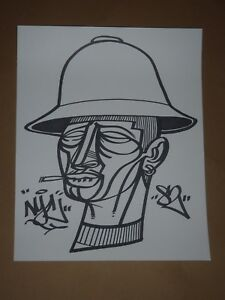 doze green marker mugs original art drawing not a print hip hop