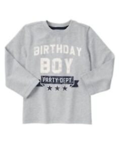 Image Is Loading NWT Gymboree Boys Birthday Shop Boy LS