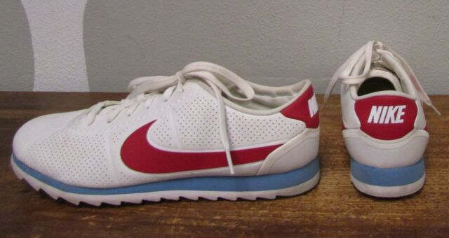 online retailer 64cf2 522d4 NIKE 844893 CORTEZ ULTRA MOIRE Womens 10 White Red Leather Sneakers Shoes