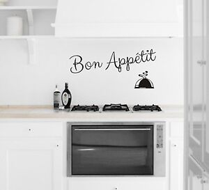 Bon appetit closh cl vinyl kitchen dining room wall art for Ebay dining room wall art