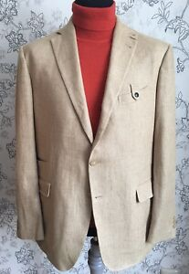 best cheap 7d222 fd68f Details about FAY Mens Linen Cotton Driving Jacket Sport Coat Blazer sz 58  Mint