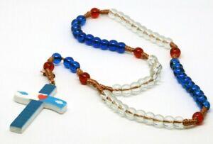 ROSENKRANZ-Taufe-Kommunion-KREUZ-Kette-MARIA-Jesus-GOTT