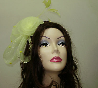 FASCINATOR HAT Ladies GRAY Cocktail Hats ONE SIZE Man Made Horsehair