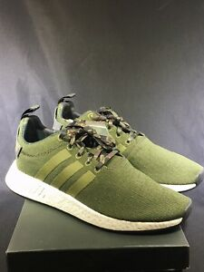 69410642a New Mens Adidas Nmd Boost R2 Knit Size 11 Cargo Black Olive Camo ...