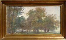 HANS MATHIAS DALL (DANISH 1862-1920 SPÄTSOMMERTAG DYREHAVEN WILDPARK KOPENHAGEN