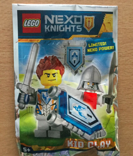 LEGO FIGURINE POLYBAG LIMITED MINIFIGURE NEXO KNIGHTS KID CLAY ENFANT CHEVALIER