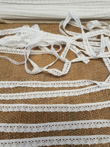 pretty white cotton vintage crocheted lace trimming braid