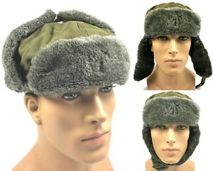 578c9f2f0b4 Image is loading ORIGINAL-MILITARY-WINTER-HAT-USHANKA-CZECH-ARMY-SURPLUS-