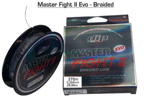 """Multifaser MASTER FIGHT II EVO BRAIDED LINE 270m 0,250mm 28,9kg """"DIP Fischen Sonstige Angelsport"""