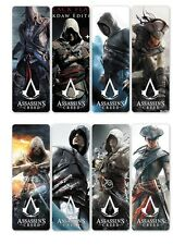 8PCS Assassin's Creed Bookmark Transparent PVC Book Mark Reading Office