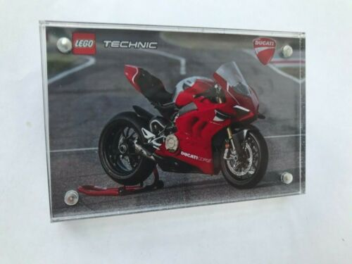 Plaque Lego Technic Ducati Panigale V4 R 42107 Acrylic Display Case