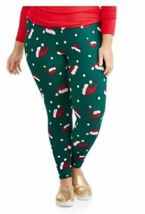 image is loading faded glory size 1x christmas leggings 16w women