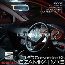 SEAT IBIZA MK4 MK5 LED UPGRADE KIT ERROR FREE PURE XENON WHITE INTERIOR REVERSE