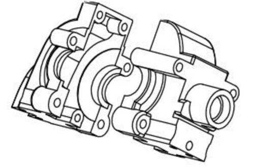 500105286 Carson CV-10 Getriebegehäuse vorne//hinten