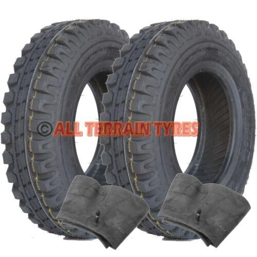 Pair HEAVY DUTY 4.80//4.00-8 8 PLY Trailer Tyres /& Inner Tubes  400x8  480 400 8