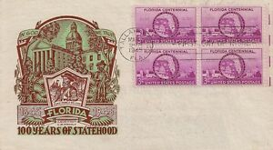LETTRE LETTER PREMIER JOUR / FIRST DAY / FLORIDA 100 YEARS OF STATEHOOD