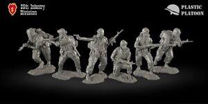 Plastique peloton jouet soldat US 25th division d'infanterie