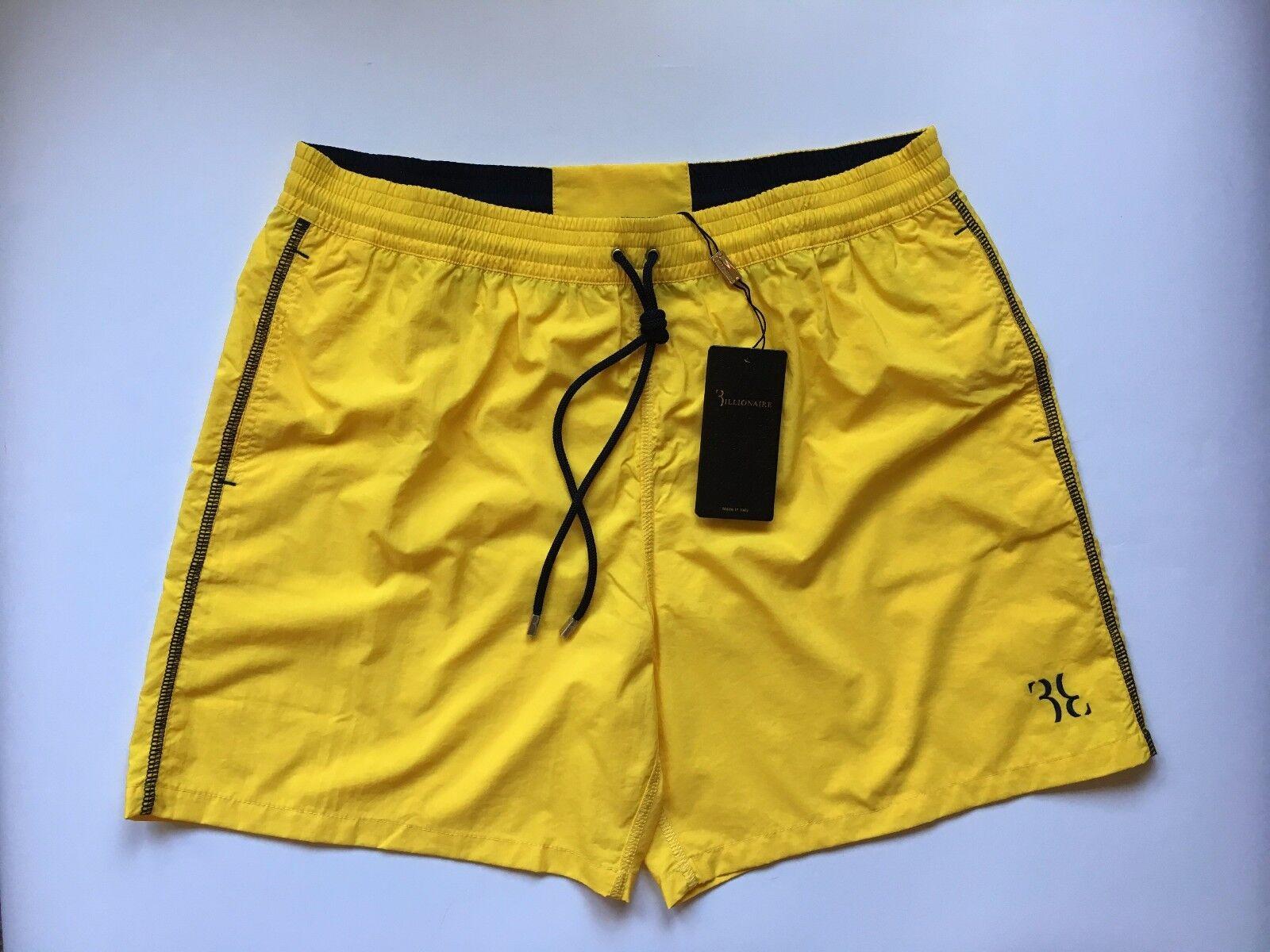 Billionaire Couture Men's Yellow Swimwear Shorts 100% PA sizes  54 2XL, 58 4XL
