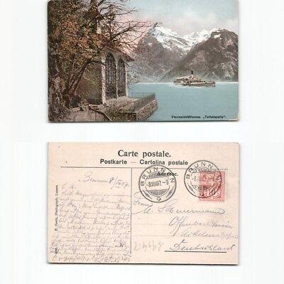 (b91458) Ansichtskarte Vierwaldstättersee 1907 Nach Offenbach