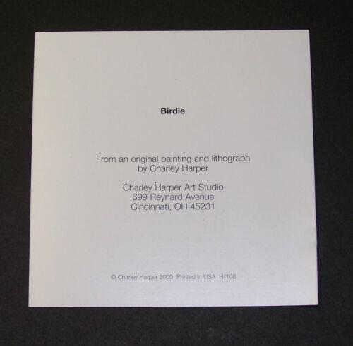 """Charles//Charley Harper Notecards /""""Birdie/"""" 4 Pack w//Envelopes"""
