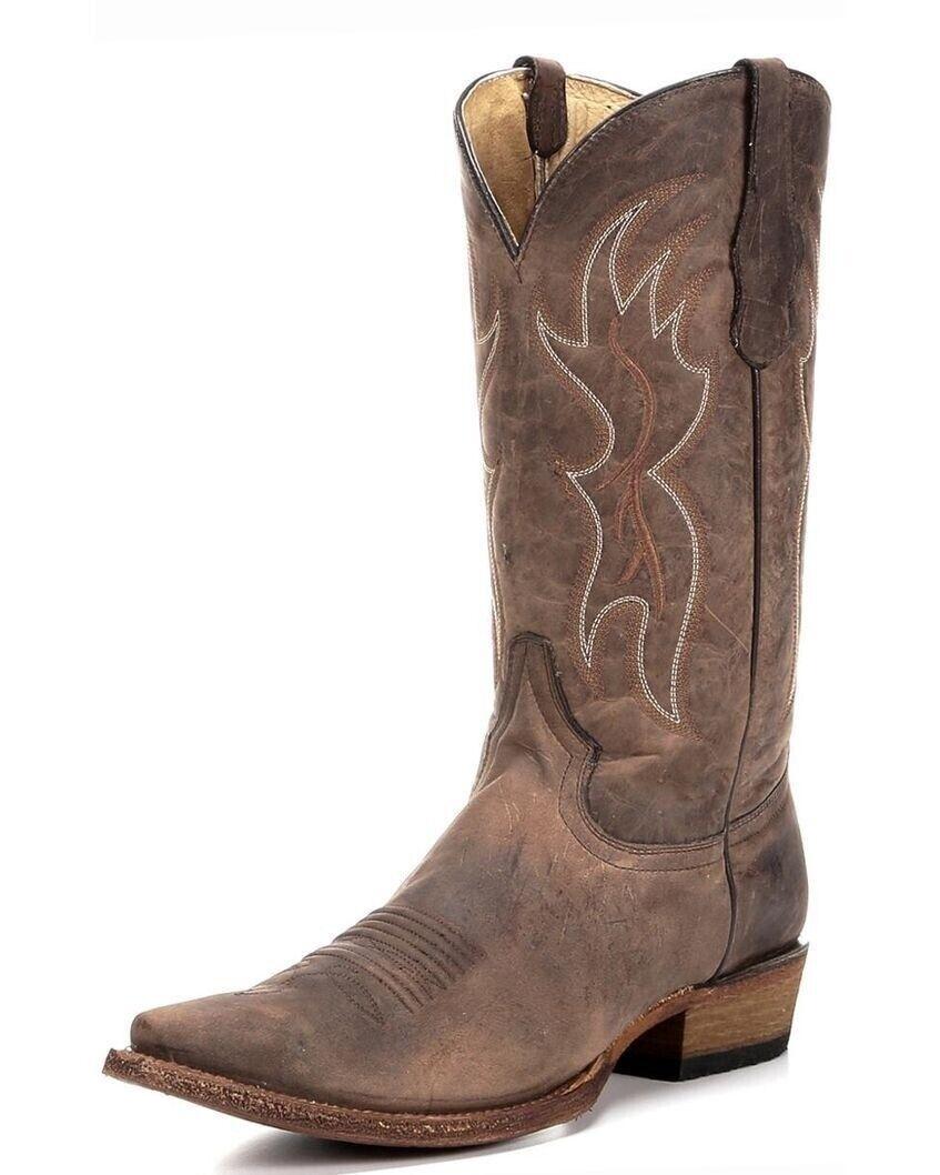 Kreis G By Corral Herren Schnitt Zeh Western Cowboy Leder Stiefel Einfach