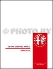 Alfa Romeo Spider 2000 Engine Manual 82 1983 1984 1985 1986 1987 1988 1989 1990