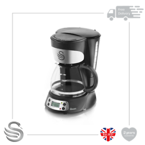Swan SK13130N 750ml Programmable Coffee Maker with Anti Drip, 700w, Black