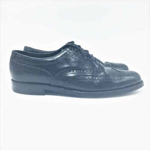 FLORSHEIM  Black Wingtip Oxford 9M