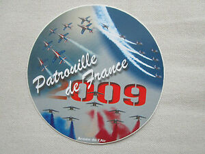 autocollant sticker armee de l 39 air alpha jet dassault patrouille de france 2009 ebay. Black Bedroom Furniture Sets. Home Design Ideas