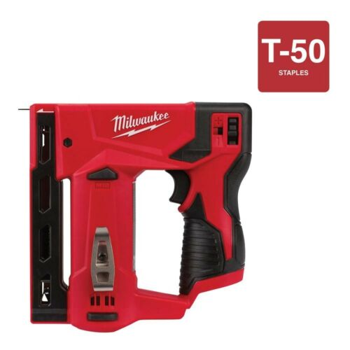 Milwaukee Crown Stapler Flat Tool Only Cordless M12 12 Volt Lithium-Ion 3//8 in.