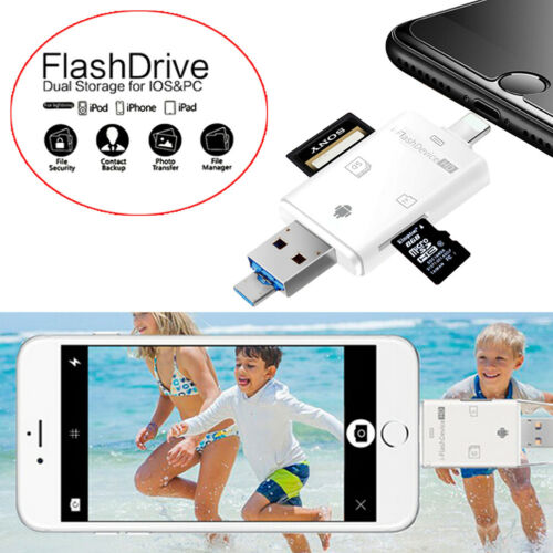 3 in 1 tf card reader for ios android usb 2.0 otg memory card reader adapter ES8