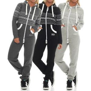 Finchgirl-Azteken-Muster-Damen-Jumpsuit-Overall-Jogging-Training-Anzug-Einteiler