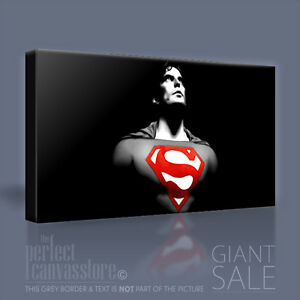 SUPERMAN STUNNING QUALITY ICONIC CANVAS ART PRINT Art Williams UPGRADE 120x56cm
