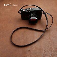 CAM3213 New Cam-in calfskin Leather Shoulder neck strap strape coffee leica Fuji