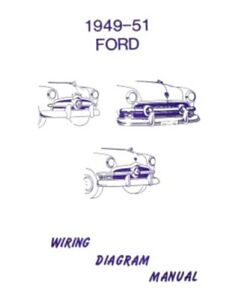 ford 1949 1950 1951 car wiring diagram manual ebay rh ebay com