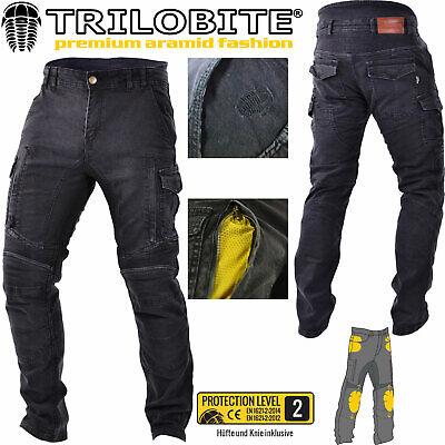 Trilobite Symphis Rocker Jeans Hose Herren Blau Motorrad Protektoren Aramid