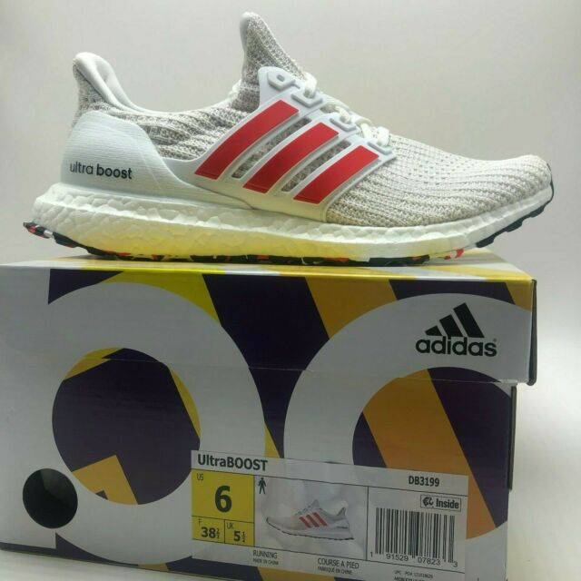 Mens Running Shoe adidas Ultraboost Db3199 White Red Size 10