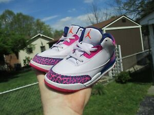 Air Jordans Retro 3 Little Girls Size 10C Awesome!!!!