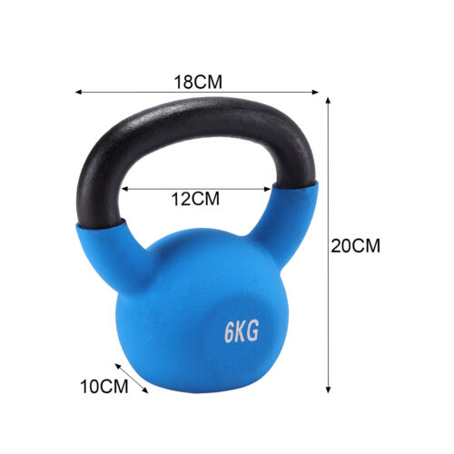 Neoprene Kettlebell Cast Iron Weights Home Gym Fitness Aerobic Exercise 2-20KG