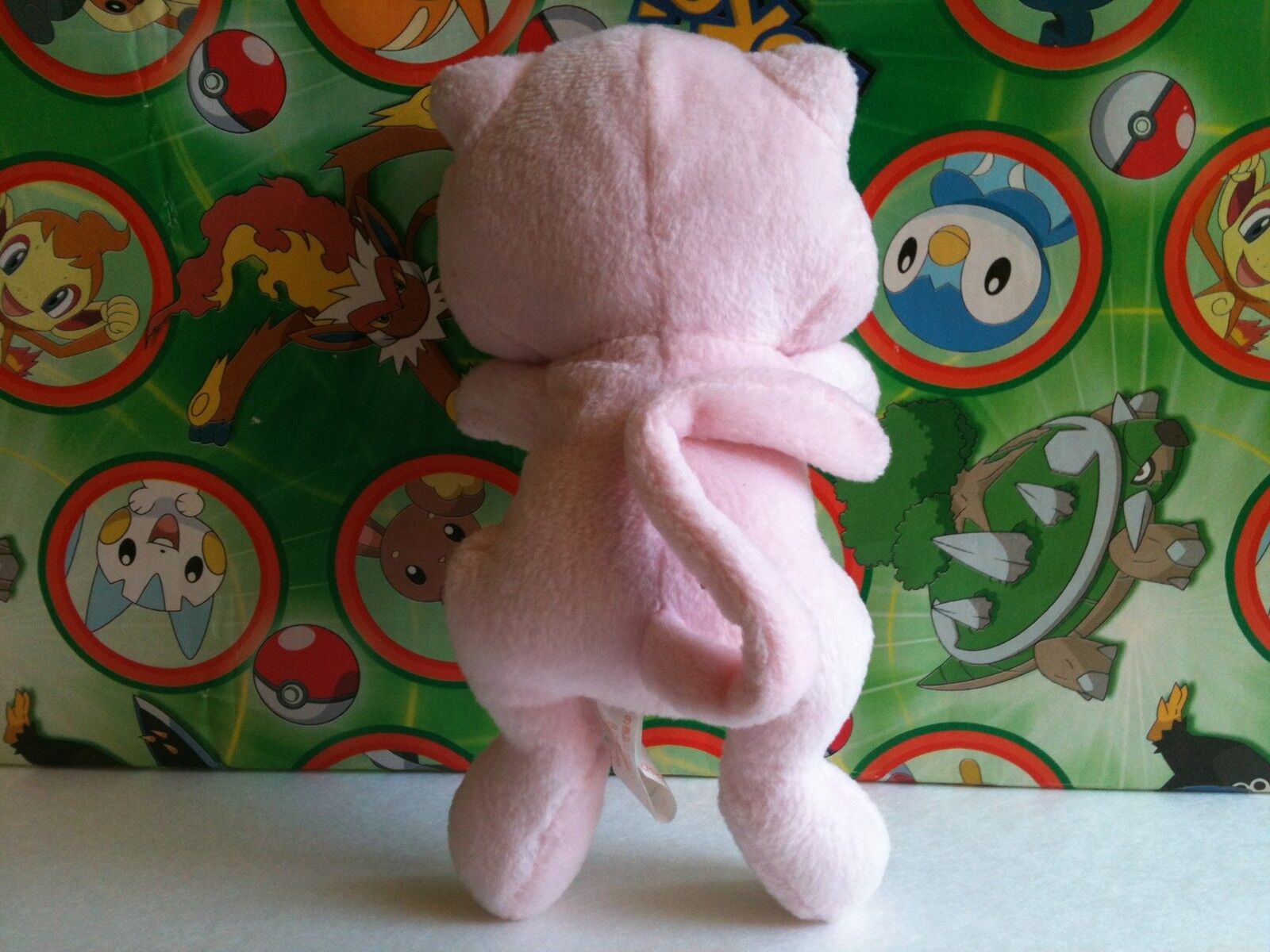 Pokemon Plush Mew 1999 Banpresto Japan UFO Prize Prize Prize Stuffed doll figure Toy Vintage 1956c9