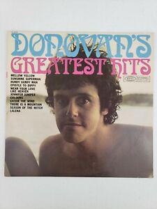 Donovan DONOVAN'S GREATEST HITS Vinyl LP EPIC PE 26439 Folk Rock 1979 Reissue NM