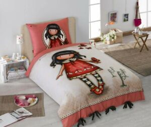 Set Bed Cotton Dolly Red Butterfly Duvet Cover 135x200 Original Santoro