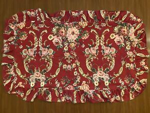 2-RALPH-LAUREN-DANIELLE-MARSEILLES-King-Size-Pillow-Shams-Red-Floral-Ruffle