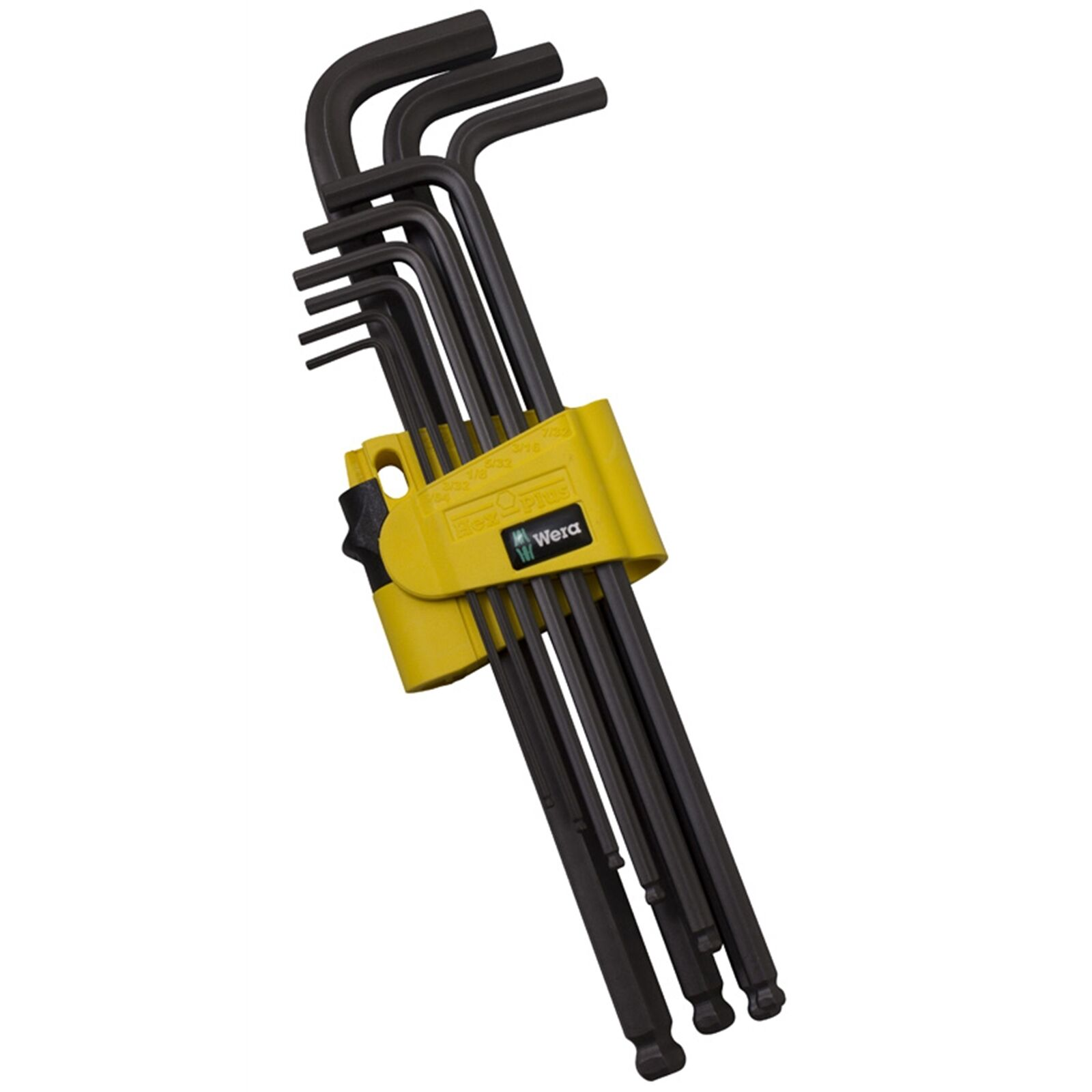 Wera IMPERIAL HEX KEY SET WERA133180 9Pieces Ball-End On Long Arm German Brand