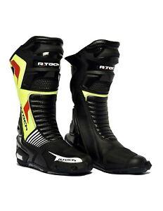 R-Tech-Road-Racer-mannen-racen-motor-laarzen-voor-alle-seizoenen-zwart-geel