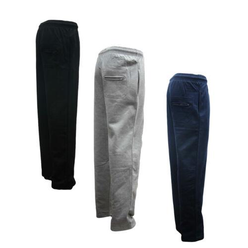 Mens Fleece Jogging Trouser Joggers Tracksuit Bottoms 4XL BLACK NAVY GREY