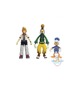 Kingdom Hearts Select Series 2 Goofy Roxas And Donald Duck 3 Pack 699788827444 Ebay