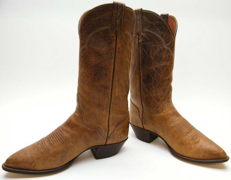 Para hombres cuero marrón engrasado THIEVES MARKET ELDORADO Vaquero Occidental botas Extra Ancho
