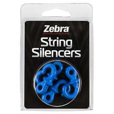 Zebra / Monkey Tails String Silencer Blue 4 Pack