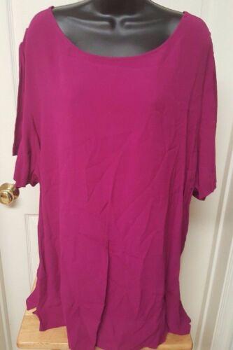 Venezia Womens Pinkish Purple Shirt Top Blouse Siz
